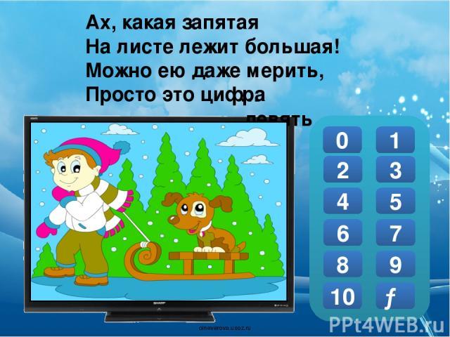 Молодцы! 0 1 2 3 4 5 6 7 8 9 10 Х oineverova.usoz.ru