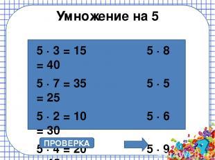 Найди ошибку ПРОВЕРКА 20 : 5 = 4 10 : 5 = 3 15 : 5 = 3 25 : 5 = 5 30 : 5 = 6 40