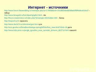 Интернет - источники http://www.forum.fotowedding.ru/viewtopic.php?p=170659&sid=