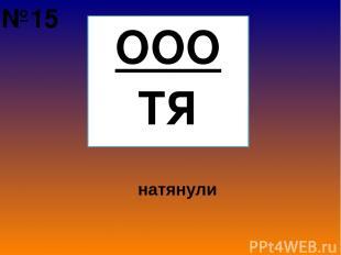 ООО ТЯ натянули №15