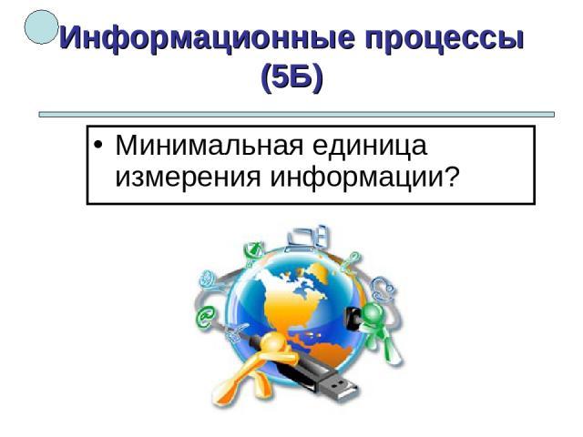 Информационные процессы (5Б) Минимальная единица измерения информации?
