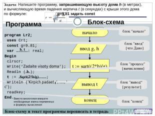 Ветвление Формат полного условного оператора: IF условие Then оператор ; {выполн