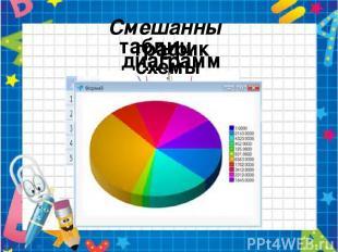 Смешанные таблицы графики схемы диаграммы Во многих моделях сочетаются образные