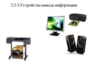 2.2.3.Устройства вывода информации