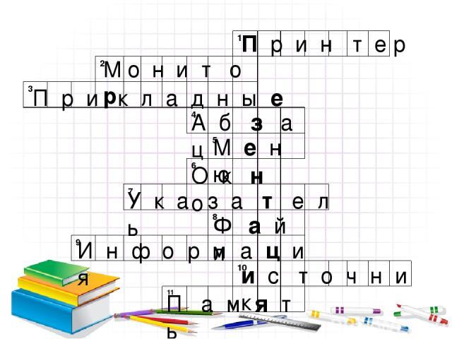 П р и н т е р М о н и т о р П р и к л а д н ы е А б з а ц М е н ю О к н о У к а з а т е л ь Ф а й л И н ф о р м а ц и я и с т о ч н и к П а м я т ь 1 2 3 4 5 6 7 8 9 10 11