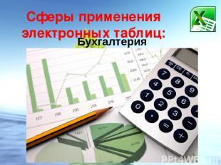 Сферы применения электронных таблиц: Бухгалтерия