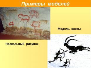Примеры моделей Модель охоты Наскальный рисунок