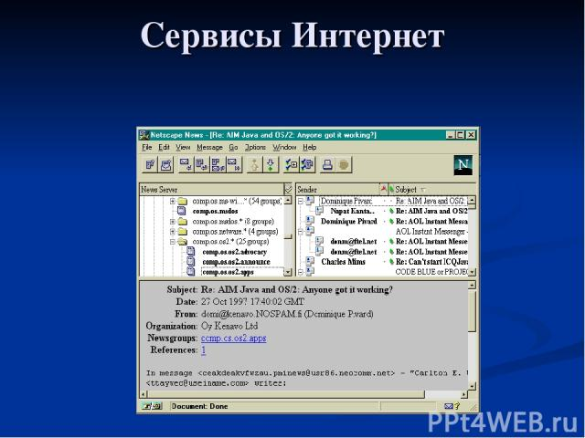 Сервисы Интернет