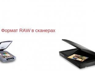 Формат RAW в сканерах