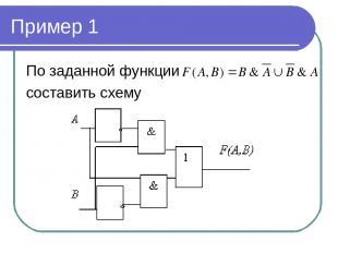 Пример 1 По заданной функции составить схему