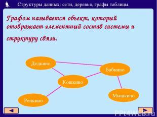Графом называется объект, который отображает элементный состав системы и структу