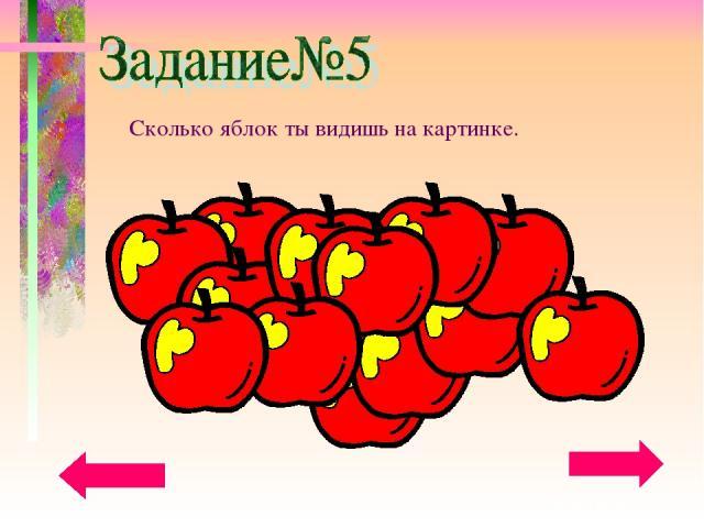Сколько яблок ты видишь на картинке.