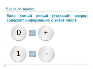 Числа со знаком