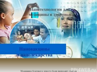 Нановакцины инанолекарства Нанотехнологии для медицины и здоровья Медицина буду