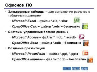 Операционные системы Операционная система (ОС) – это комплекс программ, обеспечи