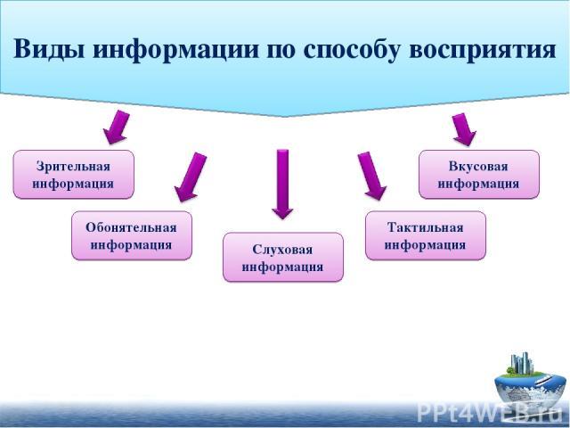 Виды информации по способу восприятия
