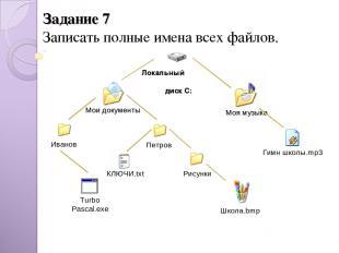 Задание 7 Записать полные имена всех файлов. Иванов