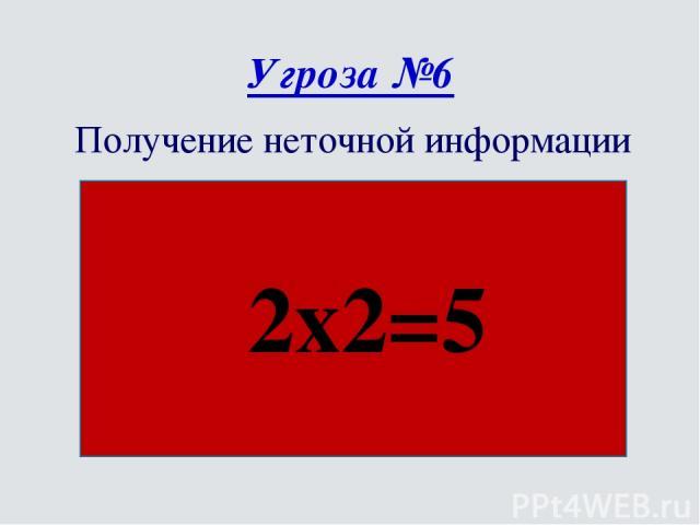 Угроза №6 Получение неточной информации 2х2=5
