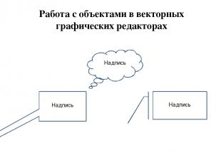 Работа с объектами в векторных графических редакторах Надпись Надпись Надпись