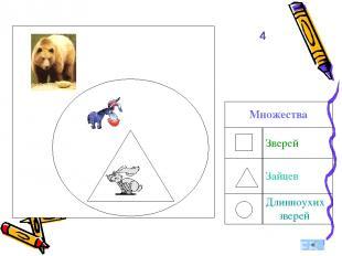 4 Множества Зверей Зайцев Длинноухих зверей