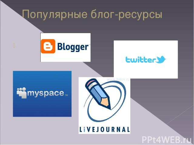 Популярные блог-ресурсы