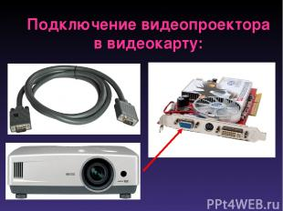 Подключение видеопроектора в видеокарту: