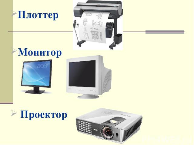 Плоттер Монитор Проектор