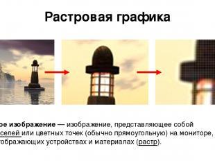 Растровая графика Растровое изображение— изображение, представляющее собой сетк