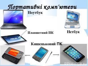 Портативні комп'ютери Ноутбук Нетбук Планшетний ПК Кишеньковий ПК