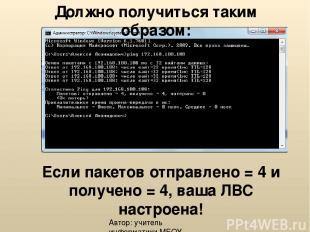 Автор: учитель информатики МБОУ СОШ № 32 (г.Н.Тагил) Чернавин Алексей Леонидович