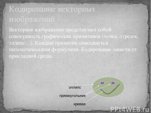 Векторное изображение представляет собой совокупность графических примитивов (то