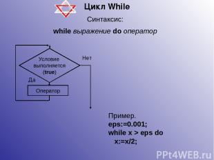 Цикл While Чему будет равно значение переменной n после выполнения инструкций? n