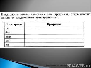 """Автор: Збинякова М.В., учитель информатики МОУ """"Комсомольская СОШ"""" Автор: Збиняк"""