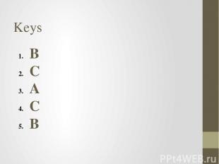 Keys B C A C B A A B B c