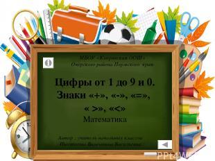 МБОУ «Кипринская ООШ» Очёрского района Пермского края Автор : учитель начальных