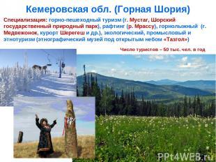 Кемеровская обл. (Горная Шория) Специализация: горно-пешеходный туризм (г. Муста