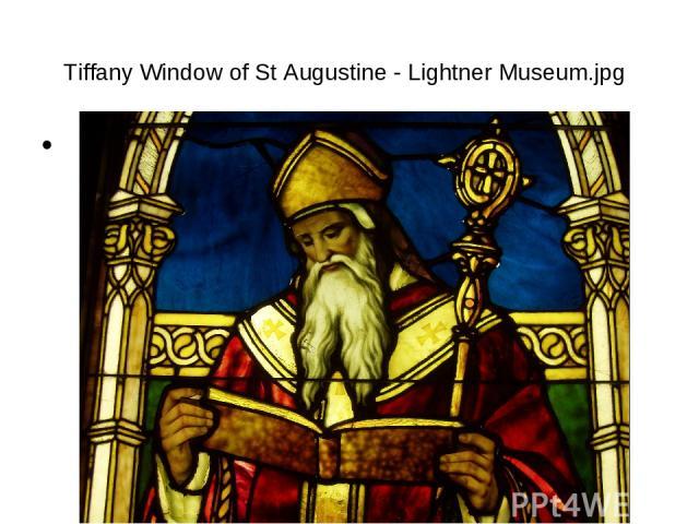Tiffany Window of St Augustine - Lightner Museum.jpg б