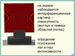 на экране наблюдается интерференционная картина – совокупность светлых и темных