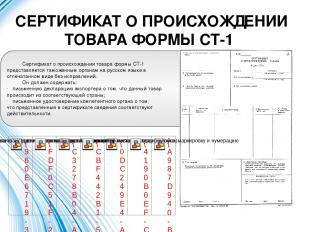 СЕРТИФИКАТ О ПРОИСХОЖДЕНИИ ТОВАРА ФОРМЫ СТ-1 Сертификат о происхождении товара ф
