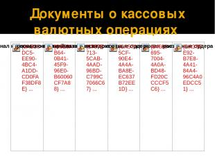 Документы о кассовых валютных операциях