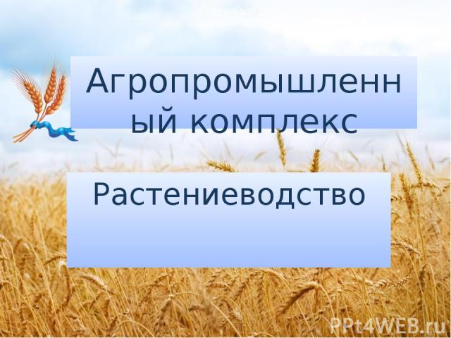 Агропромышленный комплекс Растениеводство Prezentacii.com
