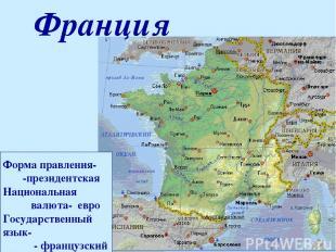 Форма правления- -президентская Национальная валюта- евро Государственный язык-