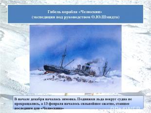 В начале декабря началась зимовка. Подвижки льда вокруг судна не прекращались, а