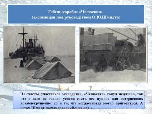 На счастье участников экспедиции, «Челюскин» тонул медленно, так что с него не т