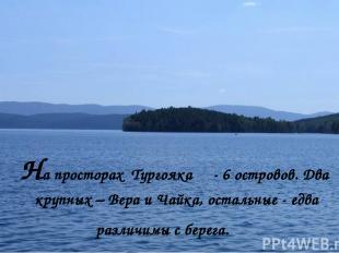 На просторах Тургояка - 6 островов. Два крупных – Вера и Чайка, остальные - едва