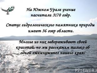 На Южном Урале ученые насчитали 3170 озёр. Статус гидрологического памятника при