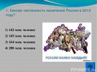 4. Какой из перечисленных народов России является наиболее крупным по численност