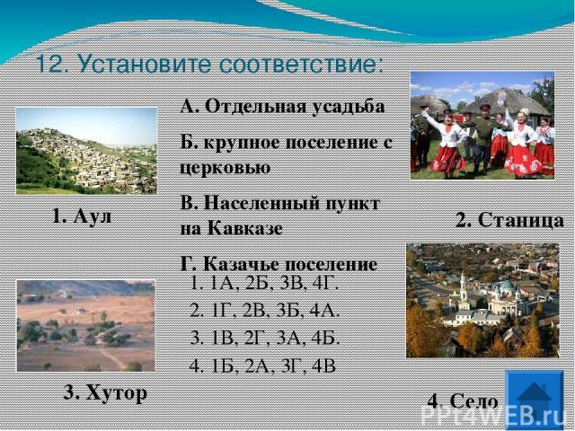 14. Как называется процесс заселения территории и образования населенных пунктов?