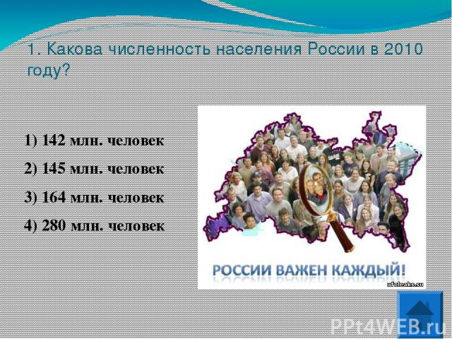 4. Какой из перечисленных народов России является наиболее крупным по численности?