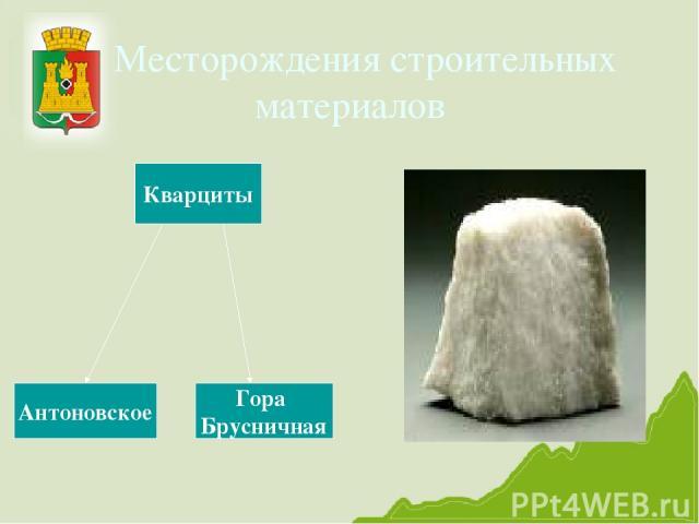 Месторождения строительных материалов Кварциты Антоновское Гора Брусничная